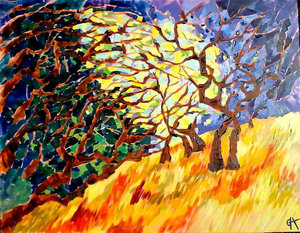 SOLD - Growing together, 60cm x 80cm