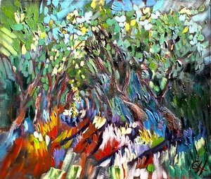 SOLD - Natures cathedral, 50cmx 50cm