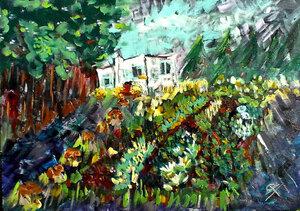SOLD - Peter's garden, 52cm x 36cm