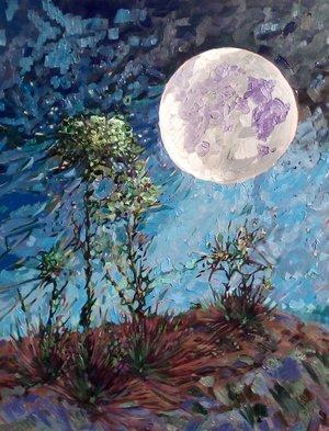 SOLD - Dancing moon, 70cm x 90cm